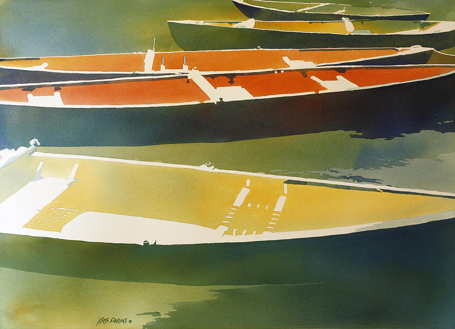 Watercolor Painting - Floaters by Kris Parins