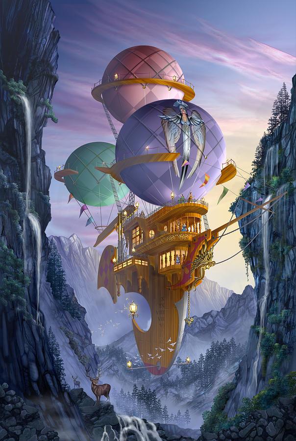 Fantasy Digital Art - Floatilla by Ciro Marchetti