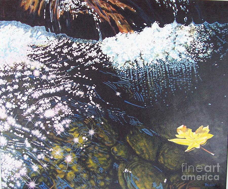 Waterscape Painting - Floating By by Devon Featherstone