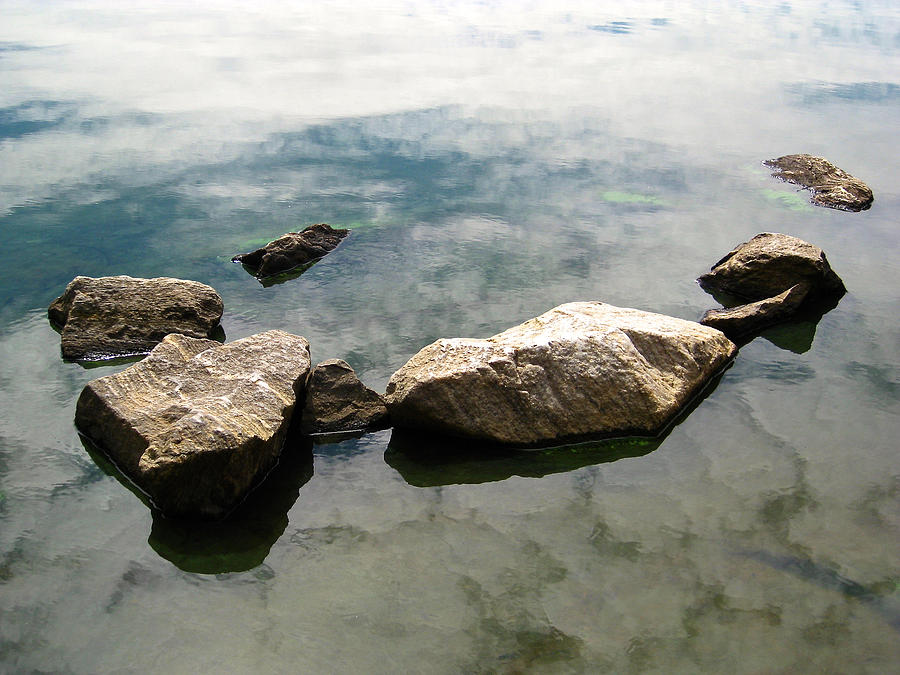 Rocks Photograph - Floating Rocks by Jill Blackwood