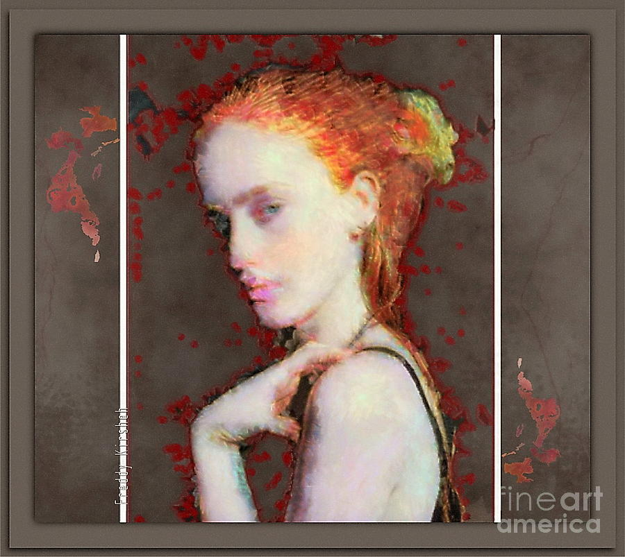 Portrait Mixed Media - Floating Sentiments by Freddy Kirsheh