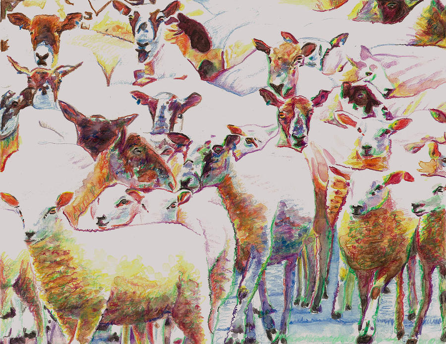 Flock Painting - Flock by Helen White