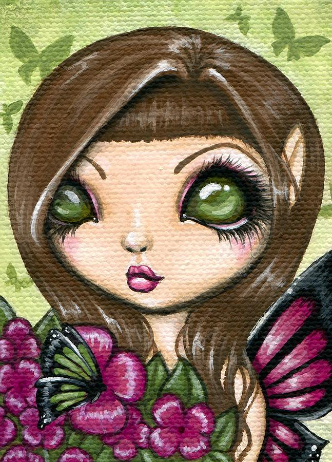 Fantasy Painting Painting - Floewer Fairy Fleur by Elaina  Wagner