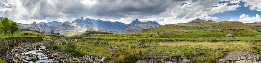Drakensberg Photograph - Flooding Light by Roald Nel
