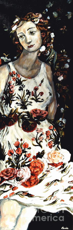Flora Painting - Flora by Carrie Joy Byrnes