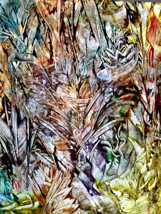 Landscape Painting - Flora by Danya Hammoudi