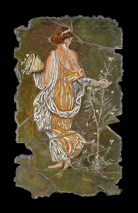 Mythology Painting - Flora by Steve Bogdanoff