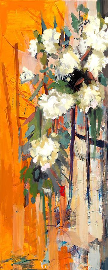 Flower Painting - Floral 17 by Mahnoor Shah