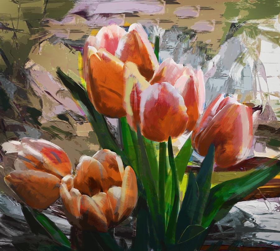 Flower Painting - Floral 4 by Mahnoor Shah