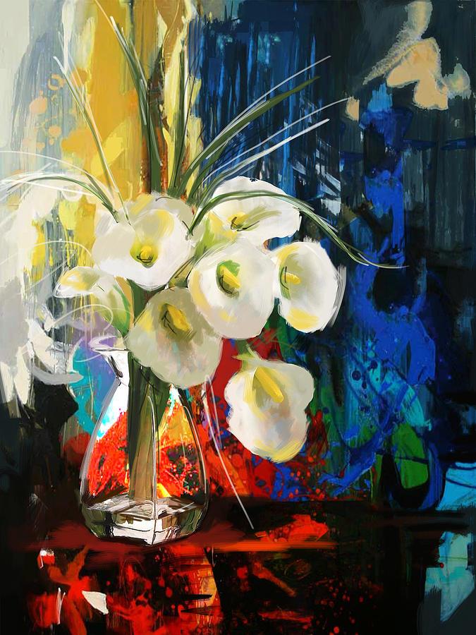 Flower Painting - Floral 6b by Mahnoor Shah