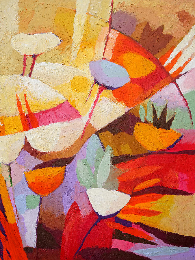 Floral Painting - Floral Abstraction by Lutz Baar