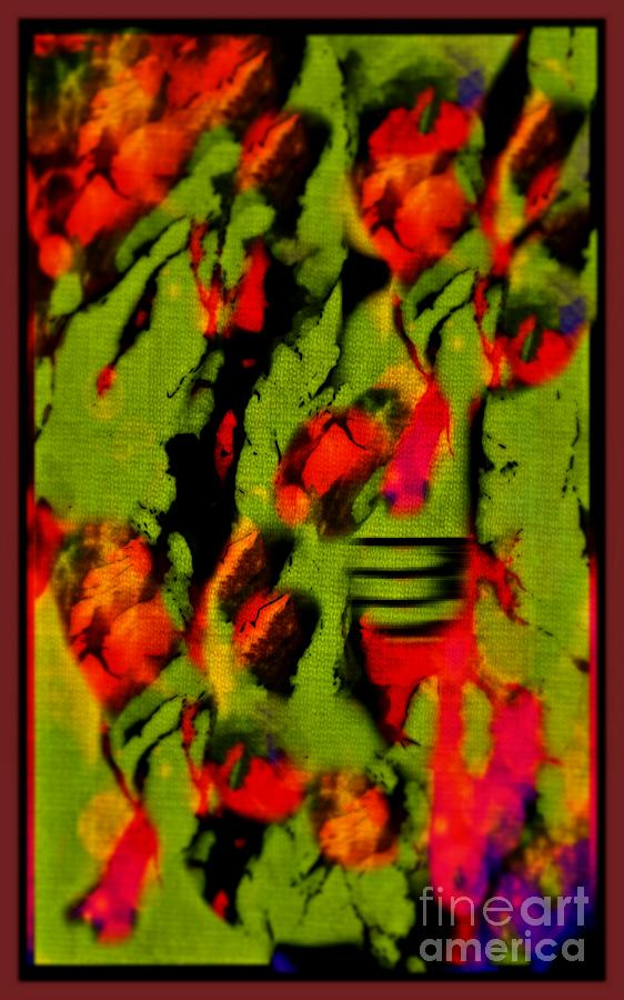 Paintings Photograph - Floral Arrrangement Abstract by John Malone