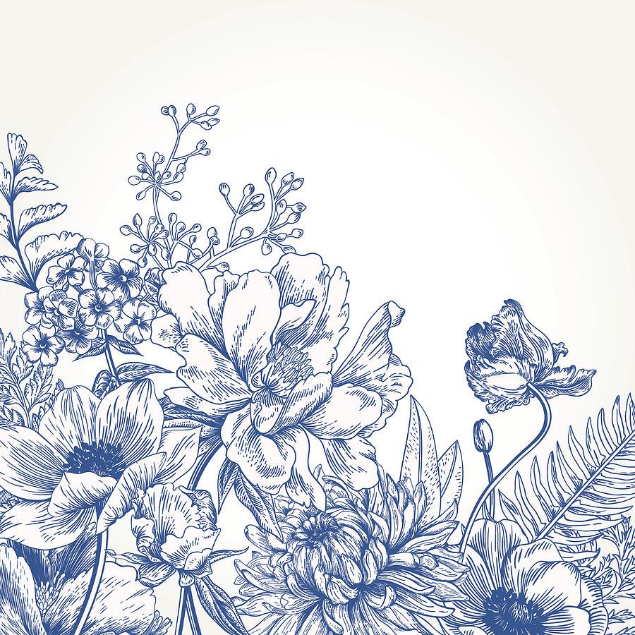 Floral Background With Flowers Digital Art by Nata slavetskaya