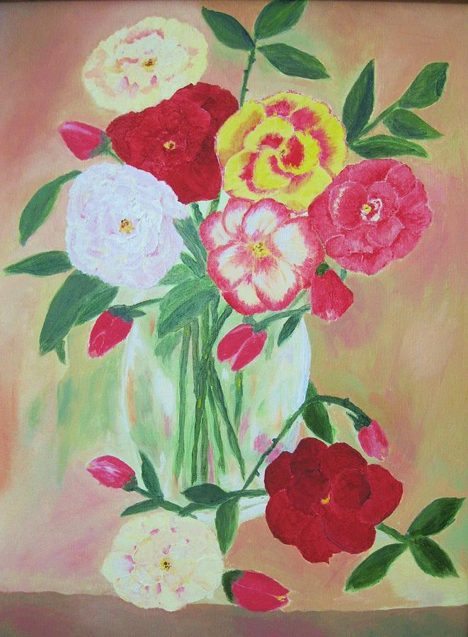 Floral Bouquet Painting by Edna Fenske