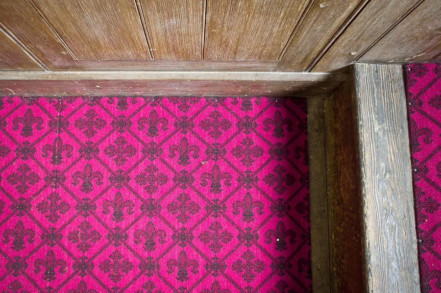 Burgundy Photograph - Floral Carpet by Tom Gowanlock