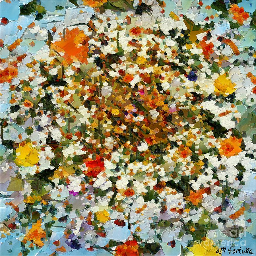 Floral Mixed Media - Floral Chaos by Dragica  Micki Fortuna
