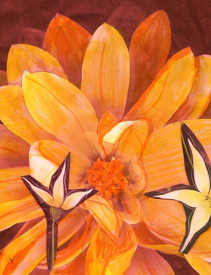 Floral Photograph - Floral Collage Fun by Anne-Elizabeth Whiteway