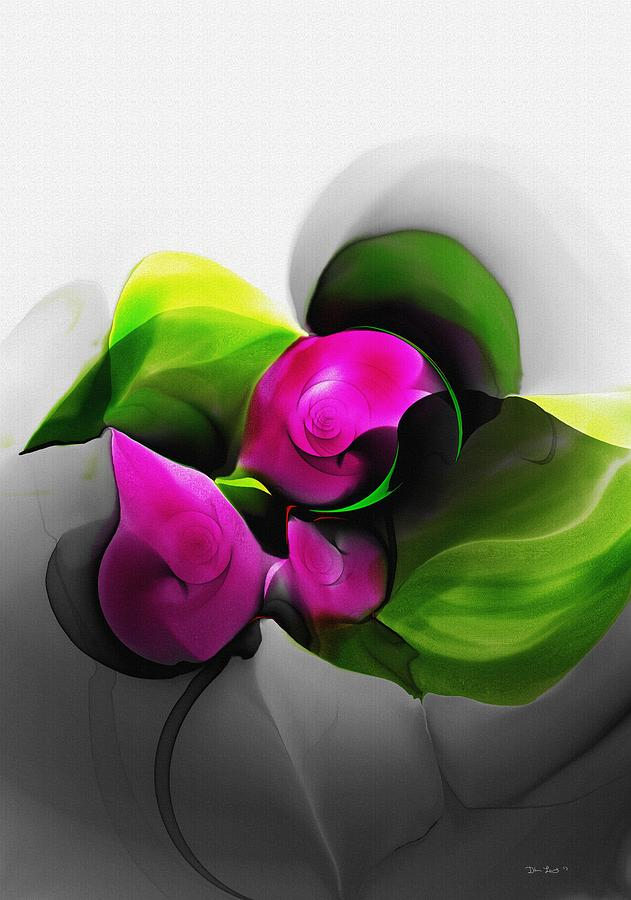 Fine Art Digital Art - Floral Expression 111213 by David Lane