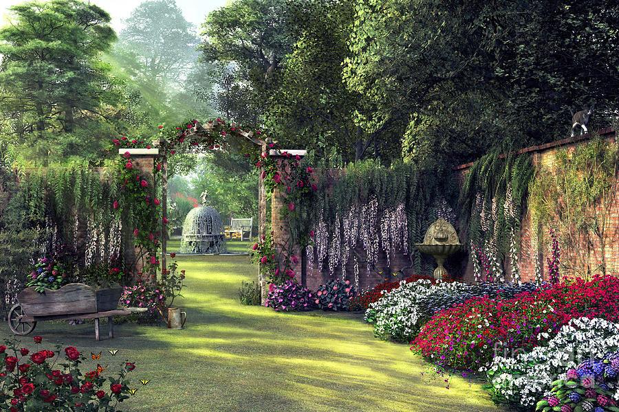 Floral Garden Digital Art By Mgl Meiklejohn Graphics Licensing