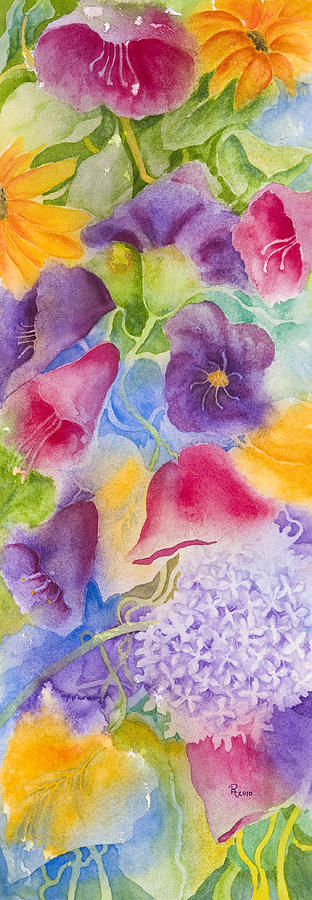 Flower Painting - Floral Glory Dos by Rhonda Leonard