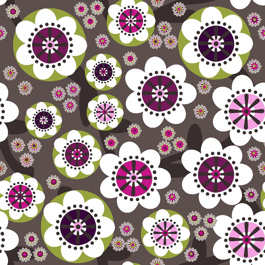 Posters Digital Art - Floral Grunge by Lisa Noneman