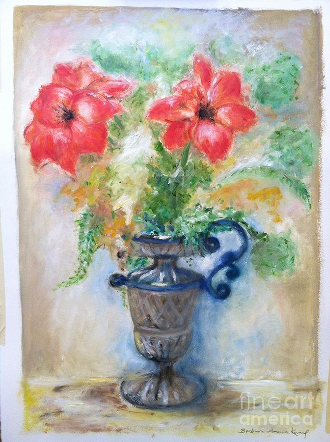 Floral Painting - Floral In Urn by Barbara Anna Knauf