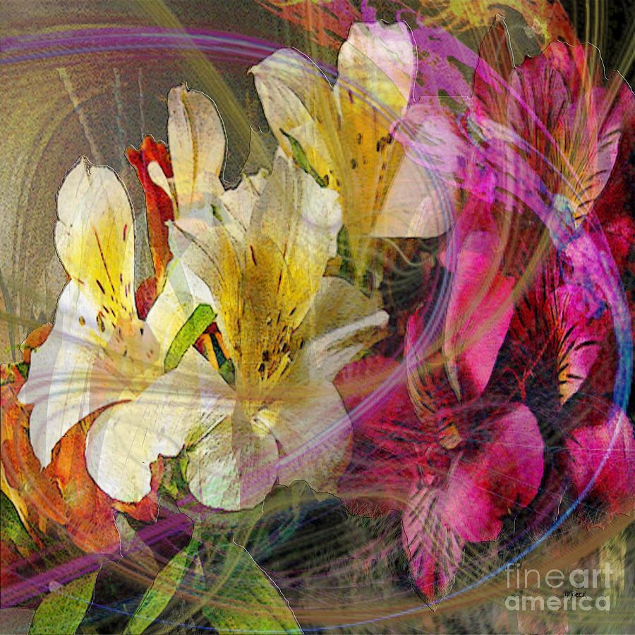 Flowers Digital Art - Floral Inspiration - Square Version by John Beck
