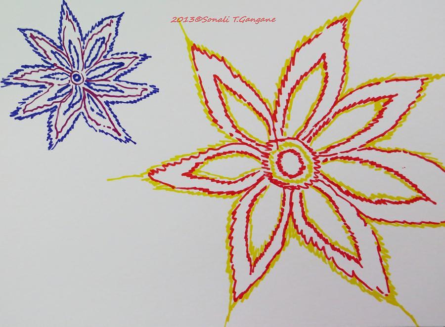 Drawing Drawing - Floral Joy  by Sonali Gangane