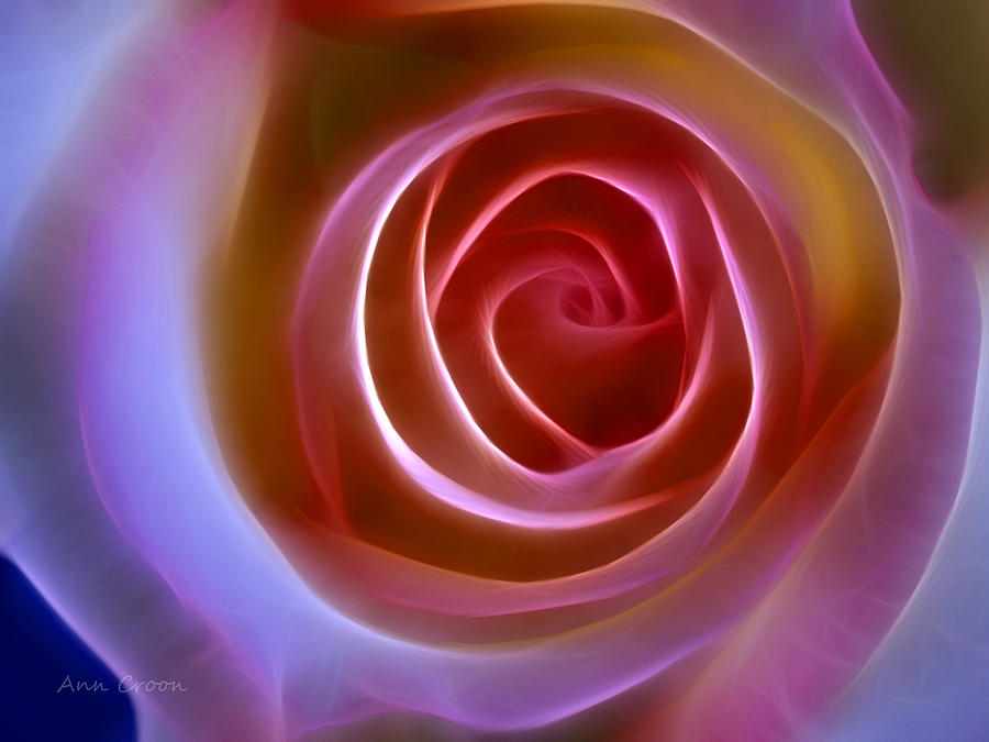 Floral Light Digital Art - Floral Light by Ann Croon