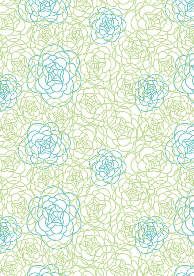 Susan Claire Photograph - Floral Lines by MGL Meiklejohn Graphics Licensing
