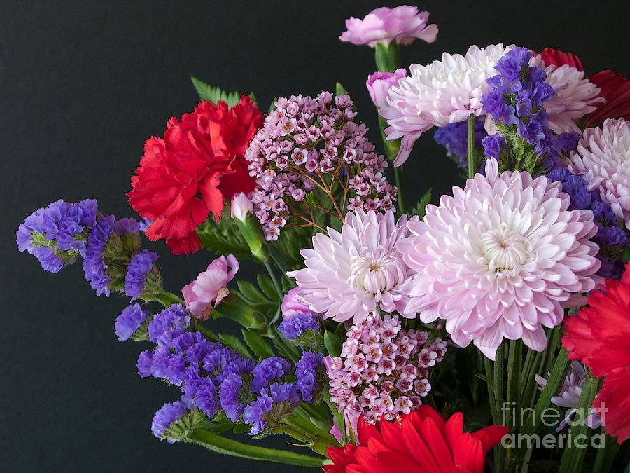 Bouquet Photograph - Floral Mix by Ann Horn