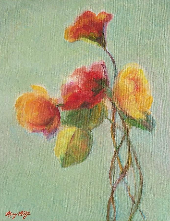Floral Painting - Floral Painting by Mary Wolf