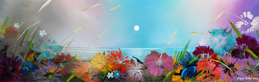 Abstract Paintings Painting - Floral Sea by Angel Ortiz
