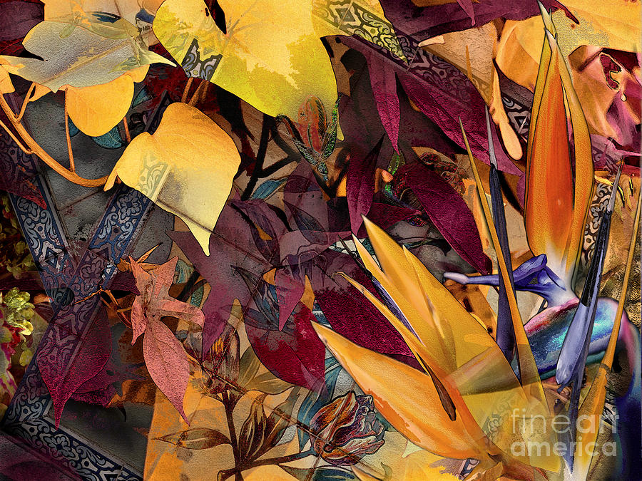 Flowers Digital Art - Floral Tiles by Paul Gentille