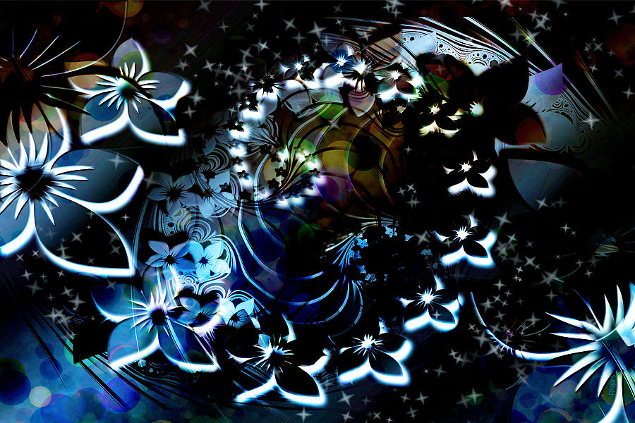 Floral Way Digital Art by Paula Ayers