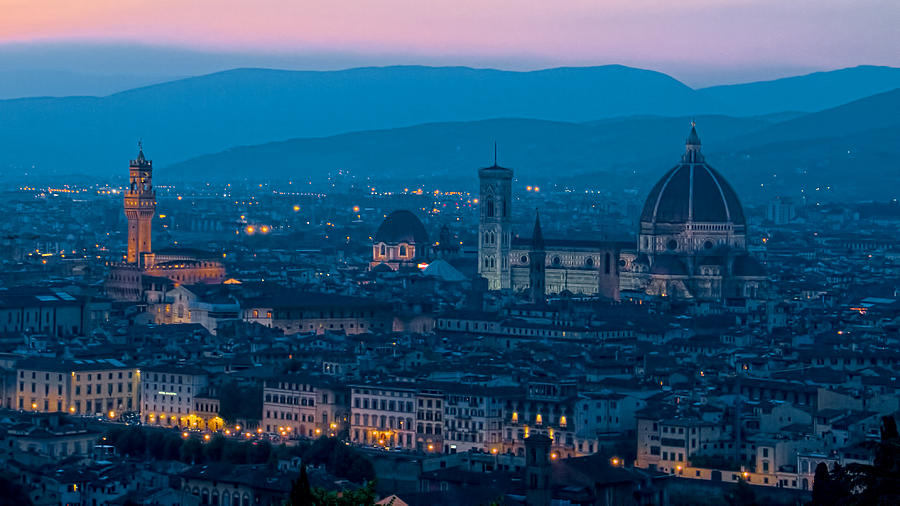 Florence Photograph - Florence At Dusk by Daniel Sands