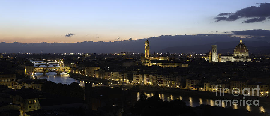 Cityscape Photograph - Florence at Night by Alex Dudley