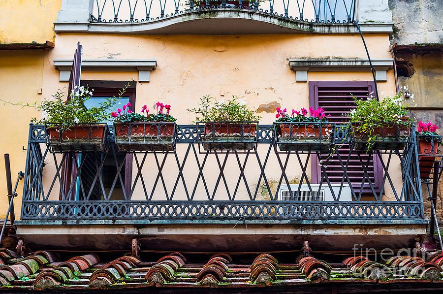 Window Photograph - Florence Balcony by Luis Alvarenga