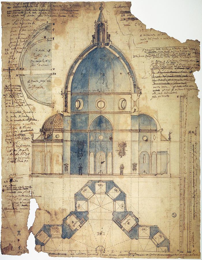15th Century Photograph - Florence: Brunelleschi by Granger