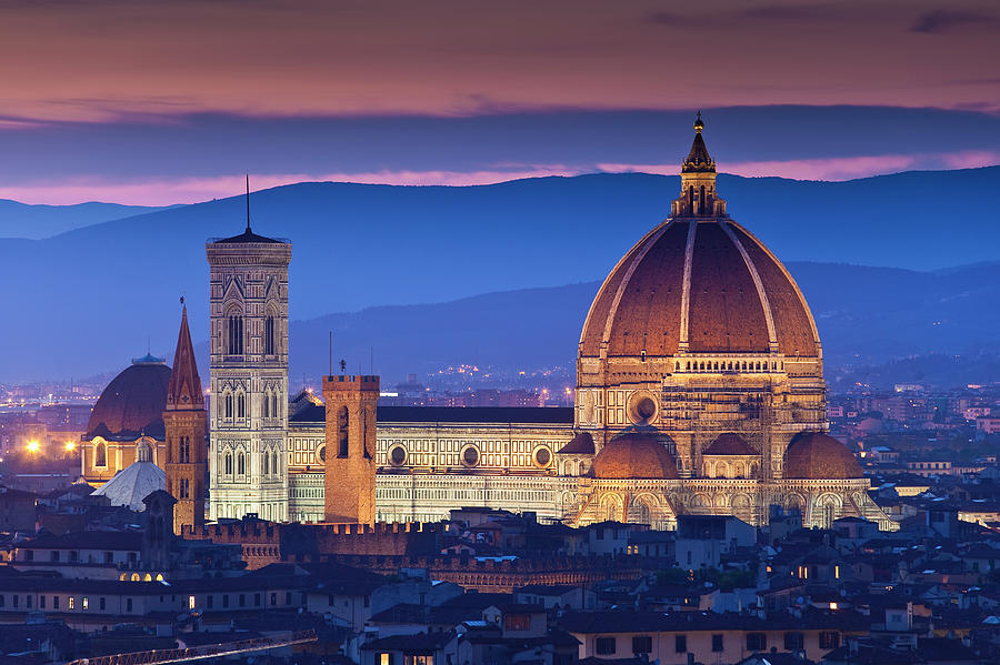 Florence Catherdral Duomo And City From Photograph by Richard Ianson