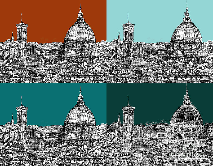 Florence Drawing - Florence Foursome 1 by Adendorff Design
