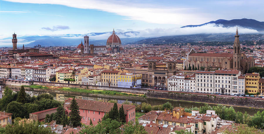 Florence From Piazza Michelango, Italy Photograph by Artie Photography (artie Ng)