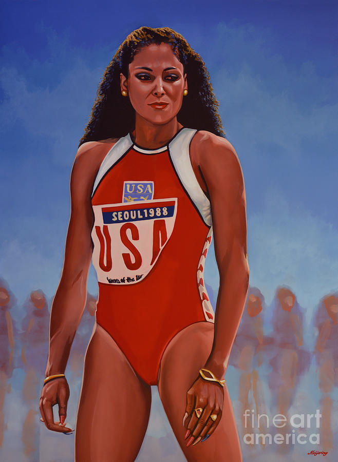 Florence Griffith Joyner Painting By Paul Meijering