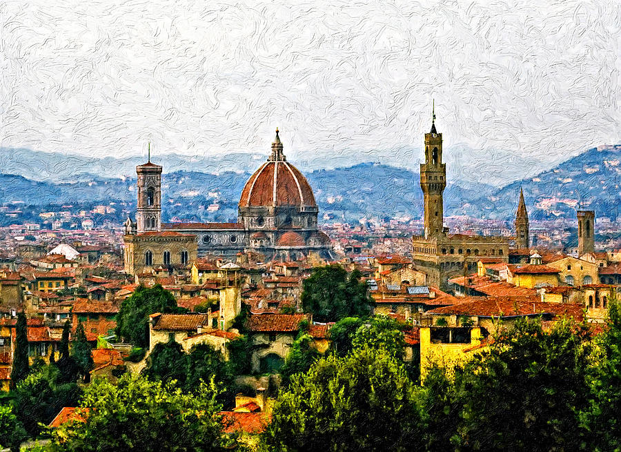 Florence Photograph - Florence Impasto by Steve Harrington