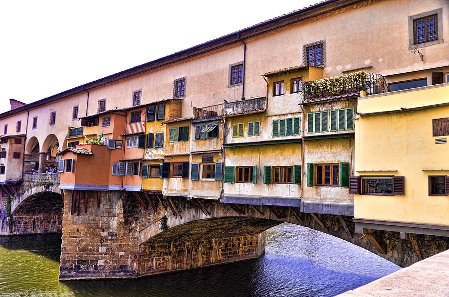 Ponte Vecchio Photograph - Florence Italy Ponte Vecchio by Jon Berghoff