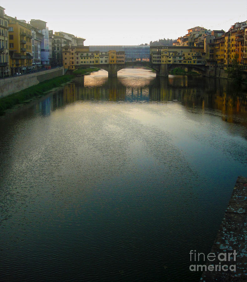 Florence Italy Photograph - Florence Italy - Ponte Vecchio - Sun Rise by Gregory Dyer