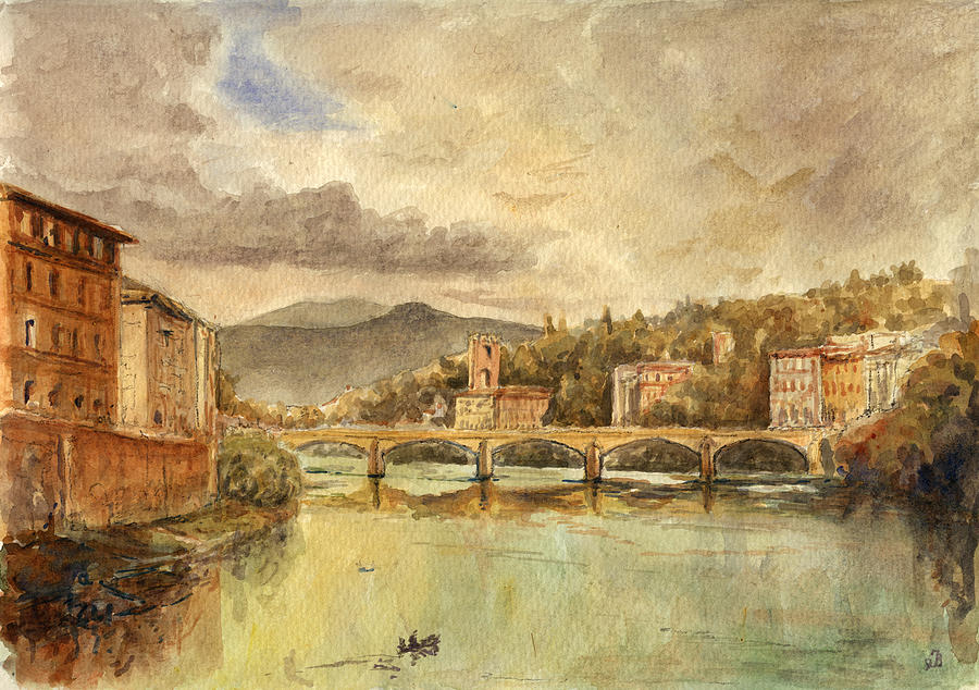 Florence Painting - Florence by Juan  Bosco