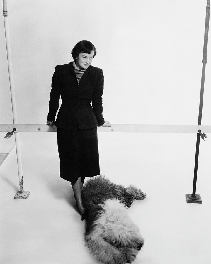 Florence Knoll And Her Dog Photograph by Herbert Matter