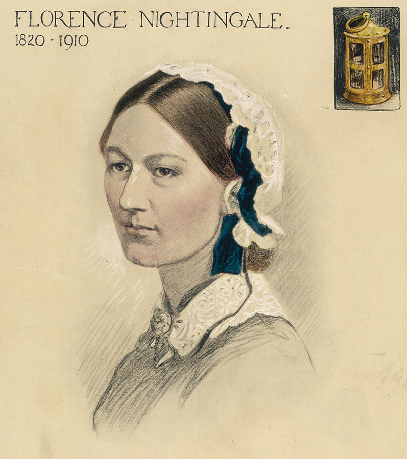 Florence Nightingale Nurse Hospital Drawing By Mary Evans Picture Library