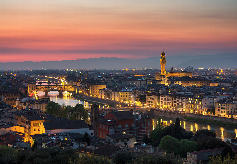 Florence View From Piazzale Michelangelo Photograph by Izzet Keribar